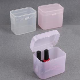 Контейнер для маникюрных/косметических принадлежностей, 1 ячейка, 10,5 × 7 × 9 см, цвет МИКС
