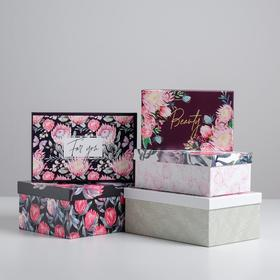 """Gift box set 5 in 1 """"Floral"""", 22 × 14 × 8.5‒ 32.5 × 20 × 12.5 see"""