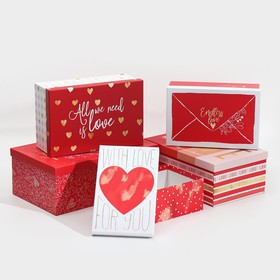 "Set of gift boxes 5 in 1 ""Love"", 22 × 14 × 8.5‒ 32.5 × 20 × 12.5 see"