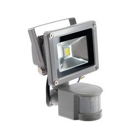 Прожектор светодиодный с датчиком движения FL-COB-10-WW-S, 10 Вт, 6500 К, 800-900 Лм, IP65