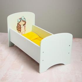 Кроватка для кукол до 32 см «Бантик» серия «Бусинки»
