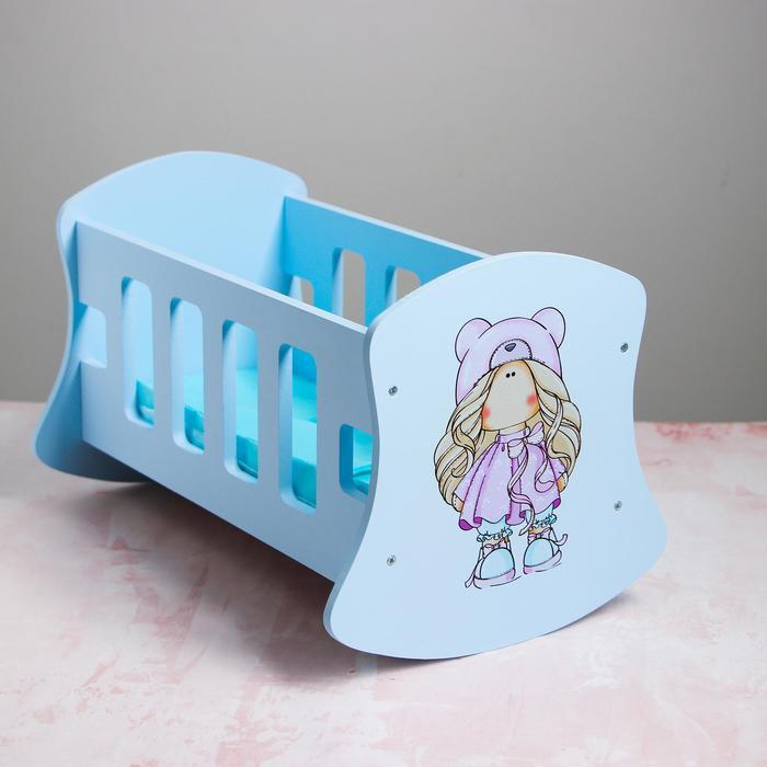 Люлька для кукол до 32 см «Кудряшка» серия «Бусинки» - фото 76674249