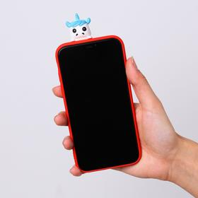 Чехол для телефона iPhone XR «Новогодний единорог», с персонажем, 7,6 х 15,1 см - фото 70966