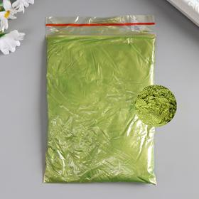 """Pigment powder 50 gr """"Apple-green"""" mother of pearl"""