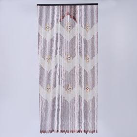 Занавеска «Зиг-заг», 90×175 см, 1 ряд, 50 нитей, 2 ряд, 14 нитей, дерево