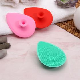 D/wash brush silicone Drop 9.4*6.8 cm suction Cup MIX package QF