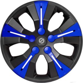 """Колпаки на колёса Sparco, серия Urban, набор 4 шт, черный - синий, 13"""" 325мм"""