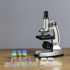 """Микроскоп """"Исследование"""" 600х, 6 стекол, пипетка, 3 баночки"""