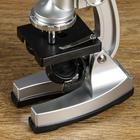 """Микроскоп """"Исследование"""", кратность увеличения 600х, 300х, 100х, с подсветкой, серебристый - фото 105608196"""