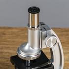 """Микроскоп """"Исследование"""", кратность увеличения 600х, 300х, 100х, с подсветкой, серебристый - фото 105608197"""