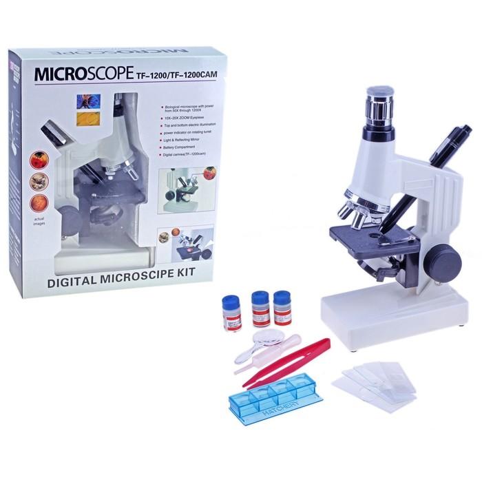 """Микроскоп """"Прогрессивный натуралист"""" 1200х, USB провод для вывода на компьютер, набор для исследований"""