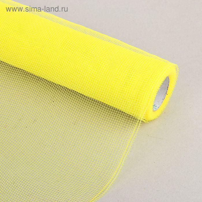 Сетка для цветов простая, лимонная 50 см х 7 м