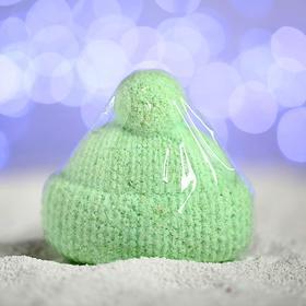 Бурлящая соль для ванны «Вязаная шапочка», зелёная, с ароматом ели Ош