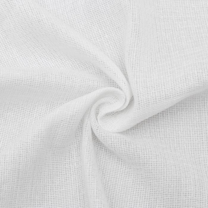 Вафельное полотно, ширина 40 см, длина 50 м, 110г/м2, 100% хлопок, цвет белый - фото 4643922