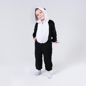 Кигуруми «Панда», закрытые глазки, рост 110 см