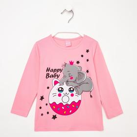 Туника для девочки, цвет розовый, рост 80-86 см