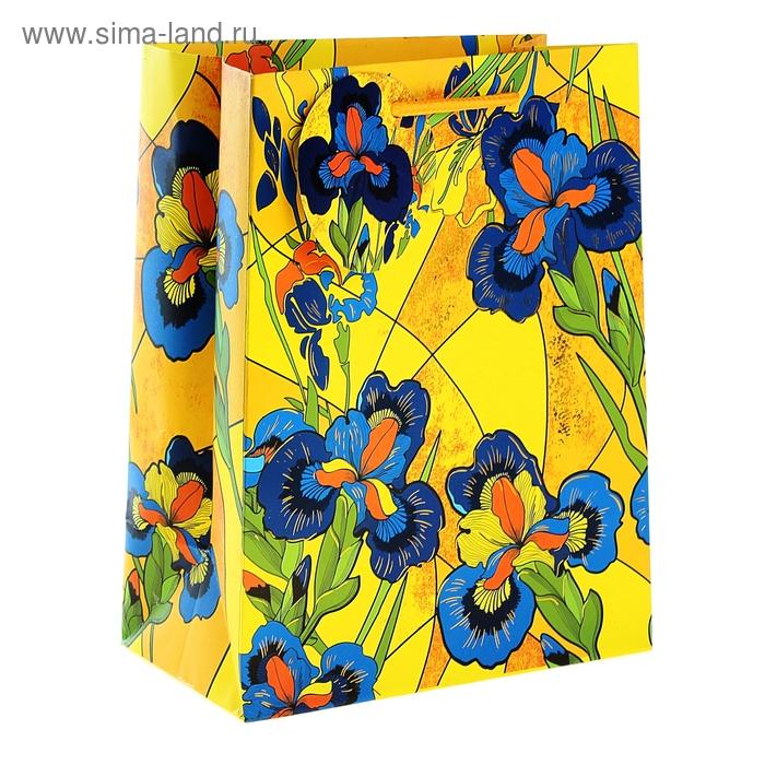 """Пакет подарочный """"Цветы"""" (тиснение)"""