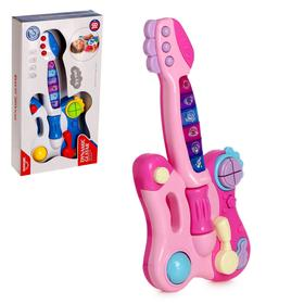"""Toy musical guitar """"Melody"""", light and sound effects, color mix"""