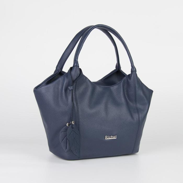 Сумка женская, отдел на молнии, наружный карман, цвет синий - фото 760245