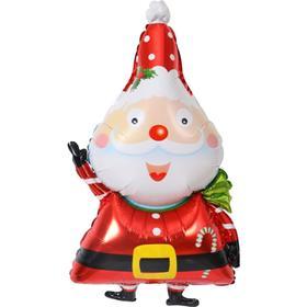 """Шар фольгированный 34"""" «Санта-Клаус», фигура"""