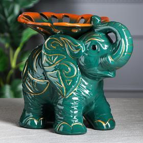 "{{photo.Alt || photo.Description || 'Конфетница ""Слон"", зелёно-оранжевый, 23 см, микс'}}"