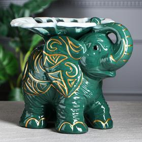 "{{photo.Alt || photo.Description || 'Конфетница ""Слон"", зелёно-белый, 23 см'}}"