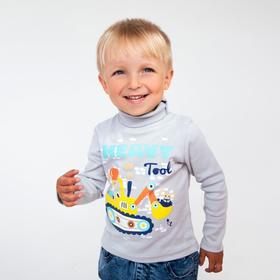 Водолазка для мальчика, цвет серый, рост 104