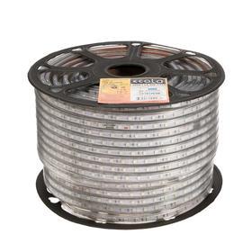 Светодиодная лента Ecola, 220В, SMD5050, 100 м, IP68, 14.4Вт/м, 60 LED/м, 14x7 мм, СИНИЙ