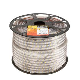 Светодиодная лента Ecola, 220В, SMD5050, 100 м, IP68, 14.4Вт/м, 60 LED/м, 14x7 мм, 2800К