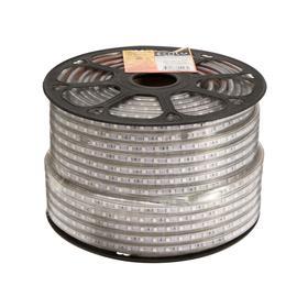 Светодиодная лента Ecola, 220В, SMD5050, 100 м, IP68, 14.4Вт/м, 60 LED/м, 14x7 мм, ЖЕЛТЫЙ