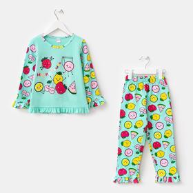 Пижама для девочки, цвет салатовый, рост 92 см