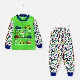 Пижама для мальчика, цвет белый, рост 92 см