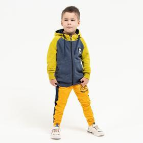 Толстовка для мальчика, цвет оливковый, рост 104 см