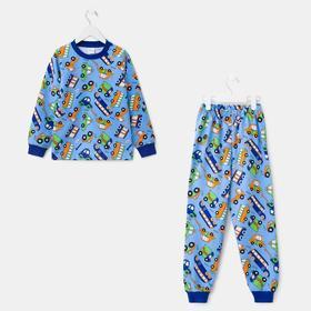 Пижама для мальчика, цвет василёк, рост 92 см