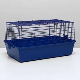 Клетка для кроликов, 60 х 36 х 32 см, синий