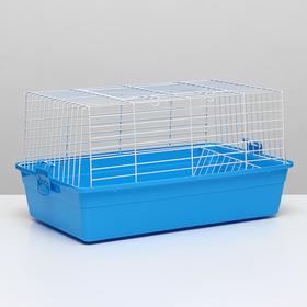 Клетка для кроликов, 60 х 36 х 32 см, голубой