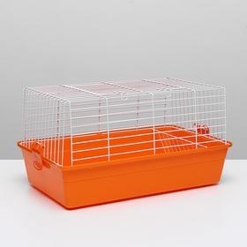 Клетка для кроликов, 60 х 36 х 32 см, оранжевый