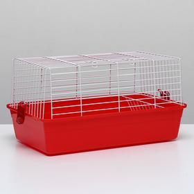 Клетка для кроликов, 60 х 36 х 32 см, красный
