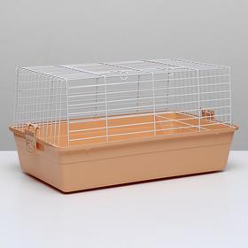Клетка для кроликов, 60 х 36 х 32 см, бежевый