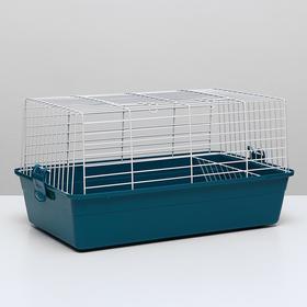 Клетка для кроликов, 60 х 36 х 32 см, бирюзовый