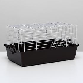 Клетка для кроликов, 60 х 36 х 32 см, шоколадный