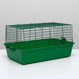 Клетка для кроликов, 60 х 36 х 32 см, зелёный