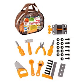 A set of construction tools, in a handbag NIS07