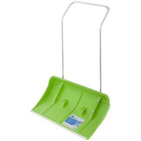 Движок пластиковый, размер ковша 44 × 81,5 см, металлическая планка, алюминиевая рукоятка, на колёсиках, «Сибртех»