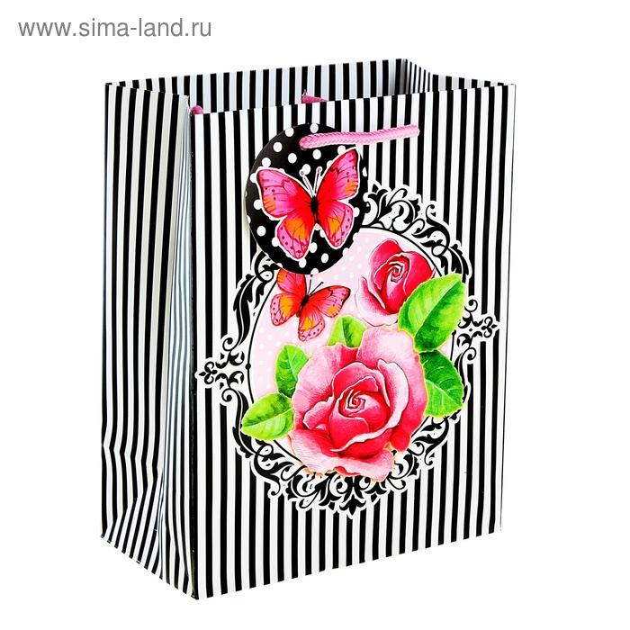 """Пакет подарочный """"Цветы"""""""
