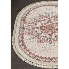 Овальный ковёр Isfahan d521, 160x220 см, цвет cream