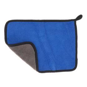 Car napkin CARTAGE, microfiber, thick, 20x30 cm, blue-gray