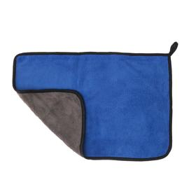 Car napkin CARTAGE, microfiber, thick, 30x40 cm, blue-gray