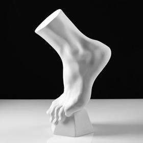 Гипсовая фигура, Стопа вертикальная, 14 х 23.5 х 38 см