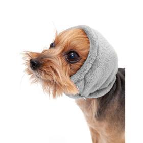 Капор Osso для собак зимний, размер M (длина 33, диаметр 36-46), серый